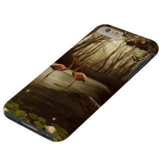Magic Flamingos Tough iPhone 6 Plus Case