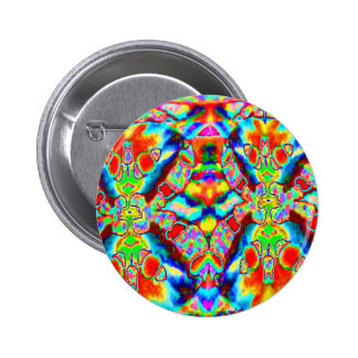 MAGIC Flying Carpet TEMPLATE Colorful Pattern GIFT 6 Cm Round Badge