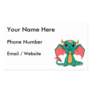 Magic Flying Dragon - Cute Smile Pack Of Standard Business Cards