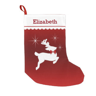 Magic Flying Reindeer Personalized (red) Small Christmas Stocking