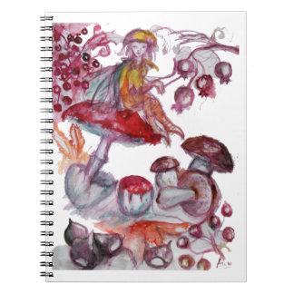 MAGIC FOLLET OF MUSHROOMS NOTE BOOK