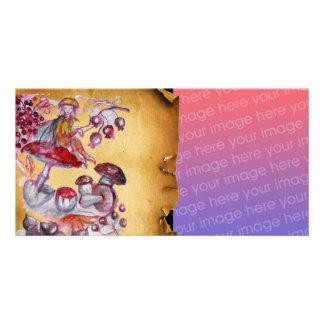 MAGIC FOLLET OF MUSHROOMS PERSONALIZED PHOTO CARD