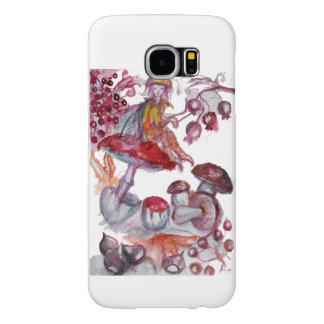 MAGIC FOLLET OF MUSHROOMS Red White Floral Fantasy Samsung Galaxy S6 Cases