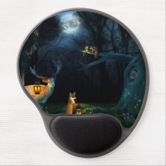 Magic Forest Wildlife Gel Mouse Pad