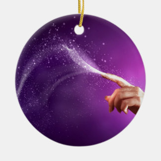 Magic fun violet hand wicca new age lavender chic christmas tree ornament