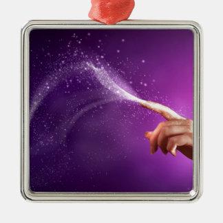 Magic fun violet hand wicca new age lavender chic ornament