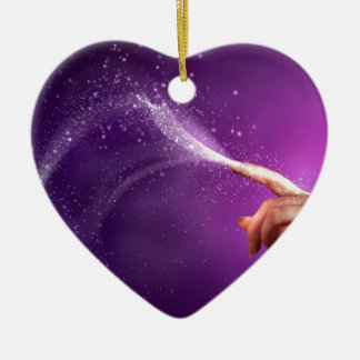 Magic fun violet hand wicca new age lavender chic christmas ornament