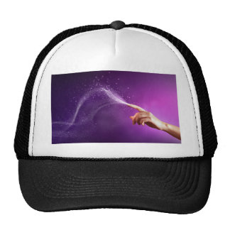 Magic fun violet hand wicca new age lavender chic hat