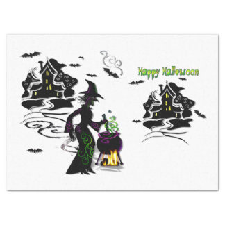 Magic Halloween Witch Tissue Paper