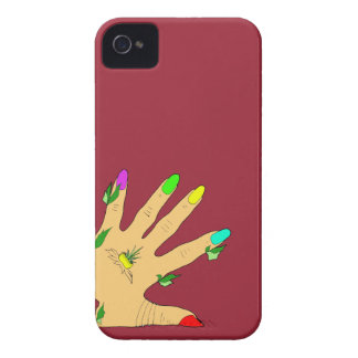 magic hand with colors nails Case-Mate iPhone 4 cases
