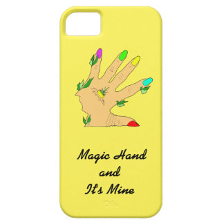magic hand with colors nails iPhone 5 case