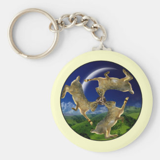 Magic Hares Basic Round Button Key Ring
