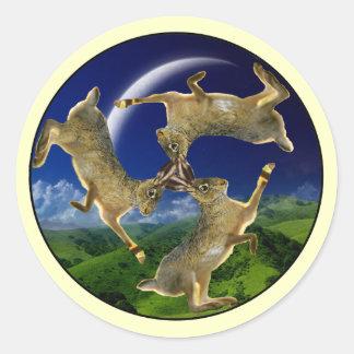 Magic Hares Classic Round Sticker