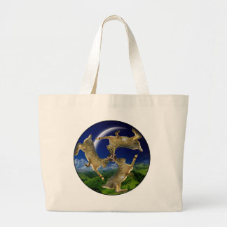 Magic Hares Large Tote Bag