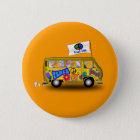 Magic Hippie Van 6 Cm Round Badge
