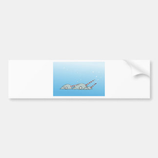 Magic holiday Narwals Bumper Stickers