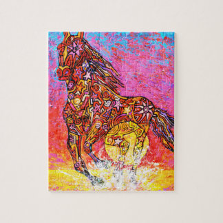 Magic horse galloping, sun and surf jigsaw puzzle
