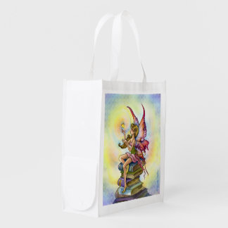 Magic in Books fairy Reusable Grocery Bag
