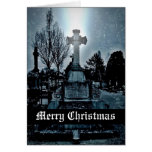 Magic in the cemetery Gothic Merry Christmas