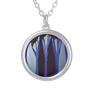 magic in the forest round pendant necklace