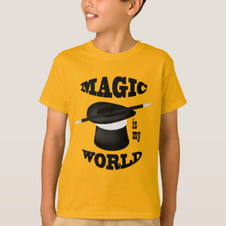 Magic is my World Magician Gold Shirt
