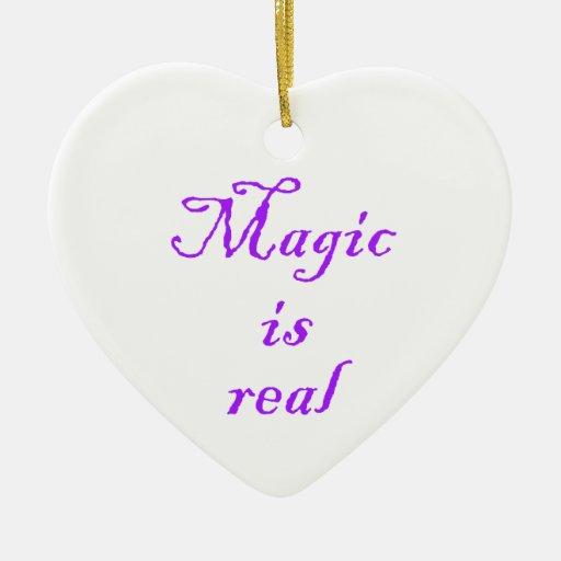 Magic is real-heart ornament