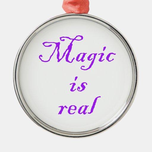 Magic is real-premium round ornament