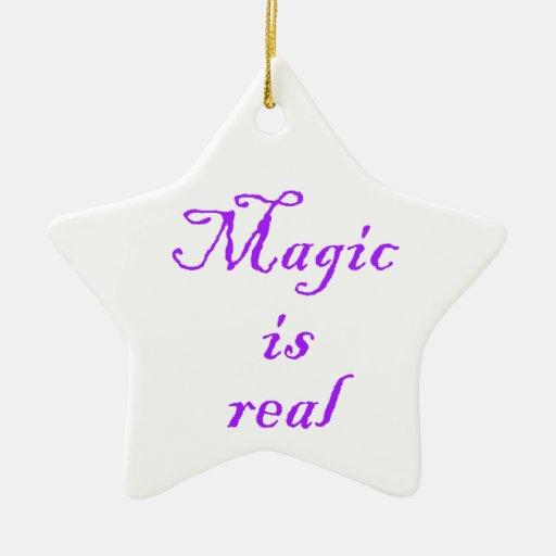 Magic is real-star ornament