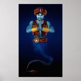 Magic Lamp Genie Poster Print
