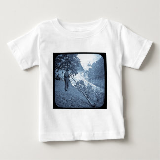Magic Lantern Slide Alp Horn Vintage Cyan Tee Shirt