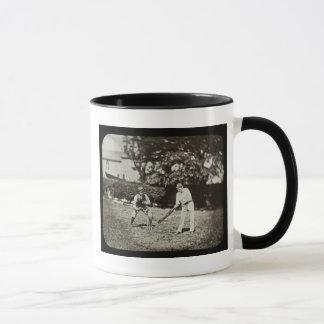 Magic Lantern Slide Cricket Players Vintage Mug