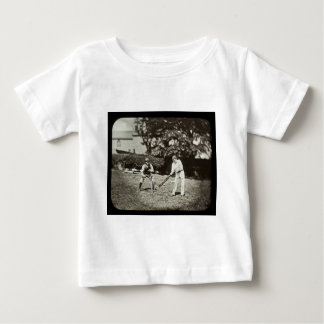 Magic Lantern Slide Cricket Players Vintage T-shirts