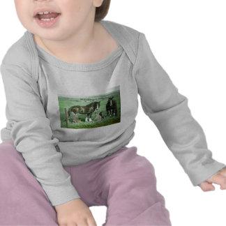 Magic Lantern Slide Horses T Shirt