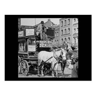 Magic Lantern Slide Kings Cross London Street Tram Post Cards