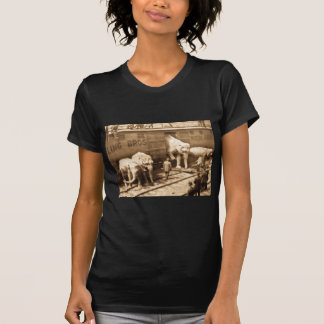 Magic Lantern Slide Ringling Bros Elephant Train T-Shirt