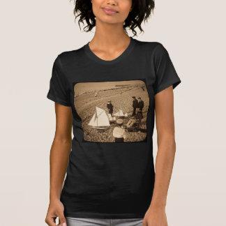 Magic Lantern Slide  Seaside at Dieppe France T-Shirt