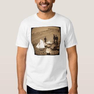 Magic Lantern Slide  Seaside at Dieppe France Tee Shirts