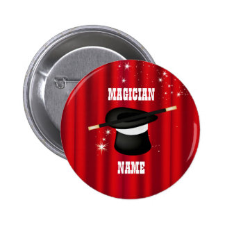 Magic Magician Party Name Button