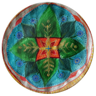 Magic Mandala 27.3 cm Decorative Porcelain Plate