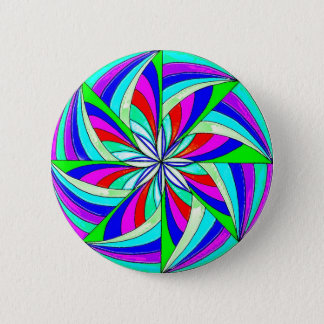 Magic mandala 6 cm round badge