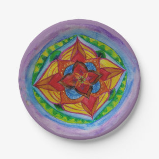 Magic Mandala Compass Custom Paper Plates 7""