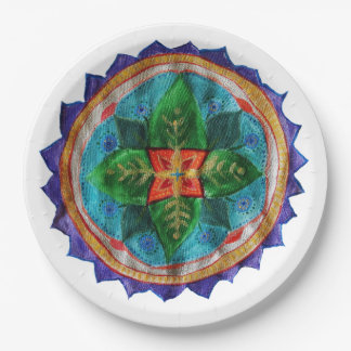 Magic Mandala Custom Paper Plates 9 in