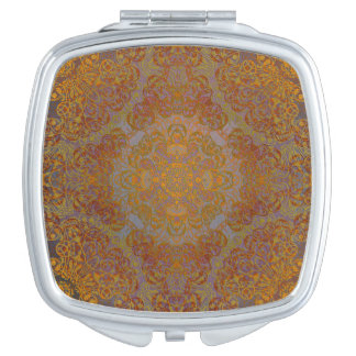 magic mandala orange mirror for makeup