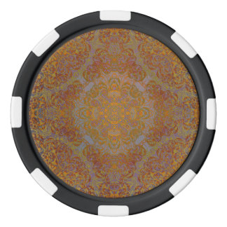 magic mandala orange poker chips