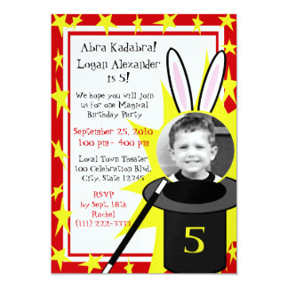 Magic Me Birthday 13 Cm X 18 Cm Invitation Card