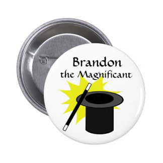 Magic Me/ Magician's Hat 6 Cm Round Badge
