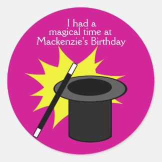 Magic Me Magician's Hat Round Sticker