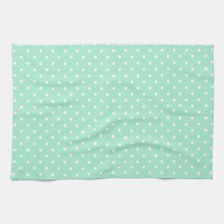 Magic Mint and White Polka Dot Pattern Tea Towel