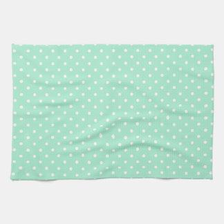 Magic Mint and White Polka Dot Pattern Towel