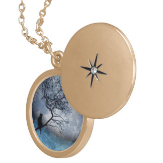 Magic moon gold plated necklace